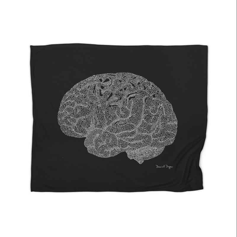 Brain (For Dark Backgrounds) Home Blanket by Daniel Dugan's Artist Shop