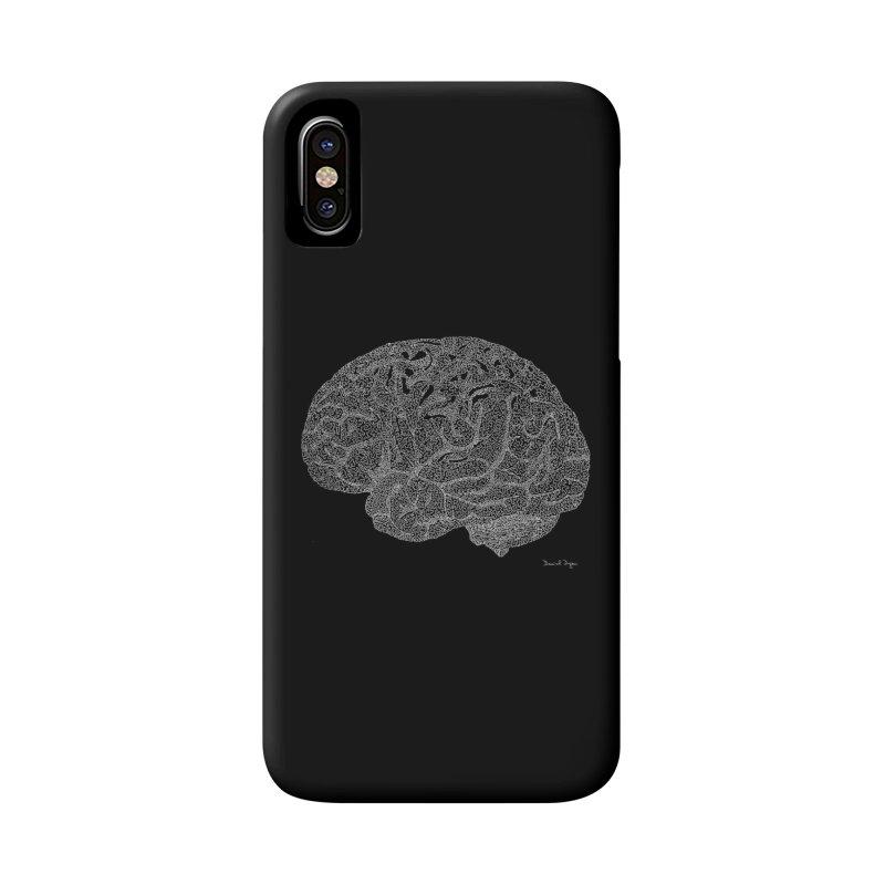 Brain WHITE Accessories Phone Case by Daniel Dugan's Artist Shop