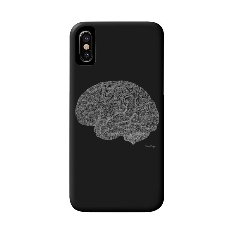 Brain WHITE Accessories Phone Case by Daniel Dugan's Artist Shop
