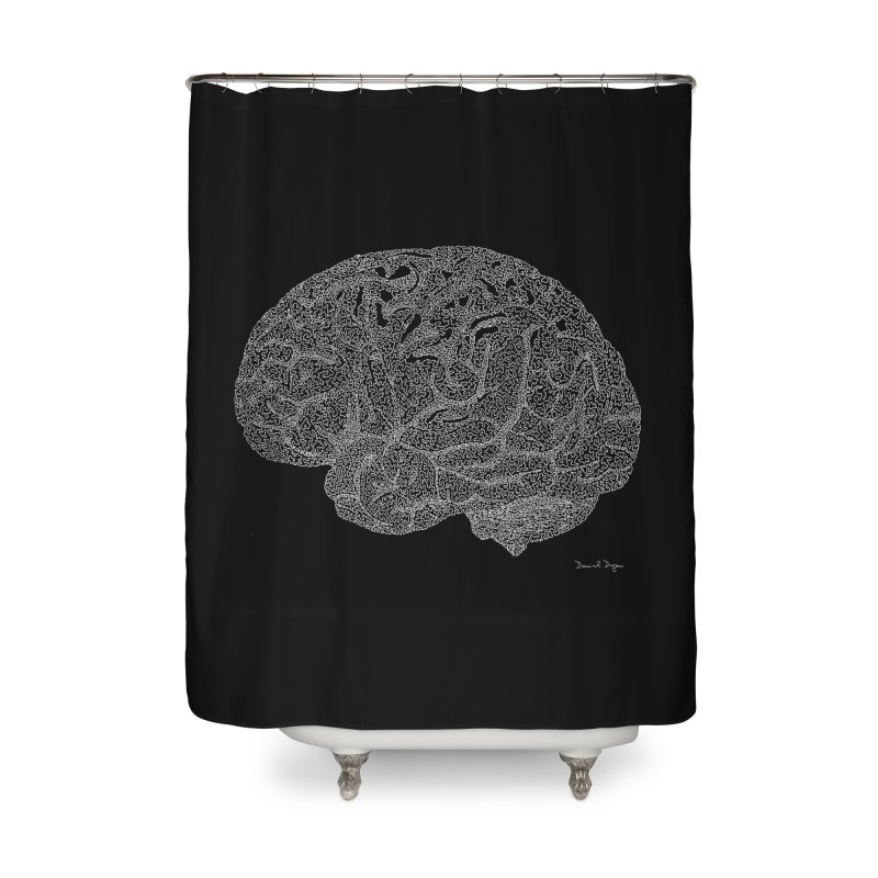 Brain WHITE Home Shower Curtain by Daniel Dugan's Artist Shop