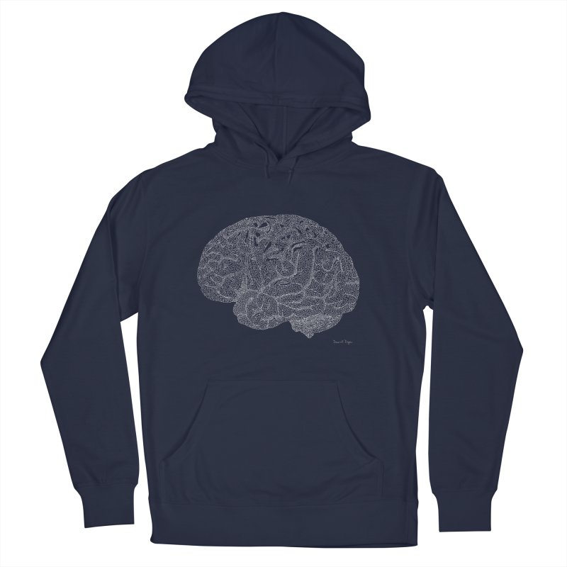 Brain WHITE Men's Pullover Hoody by Daniel Dugan's Artist Shop