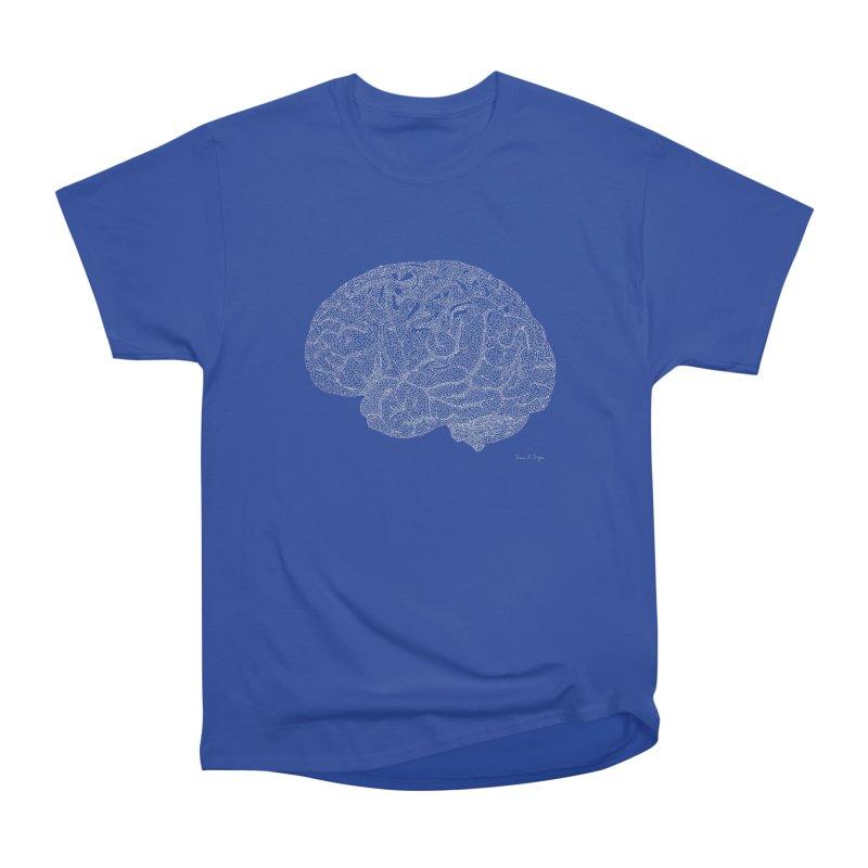 Brain WHITE Men's Heavyweight T-Shirt by Daniel Dugan's Artist Shop