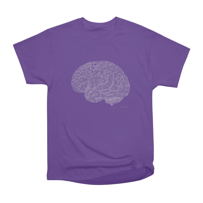 Brain WHITE Men's Classic T-Shirt by Daniel Dugan's Artist Shop