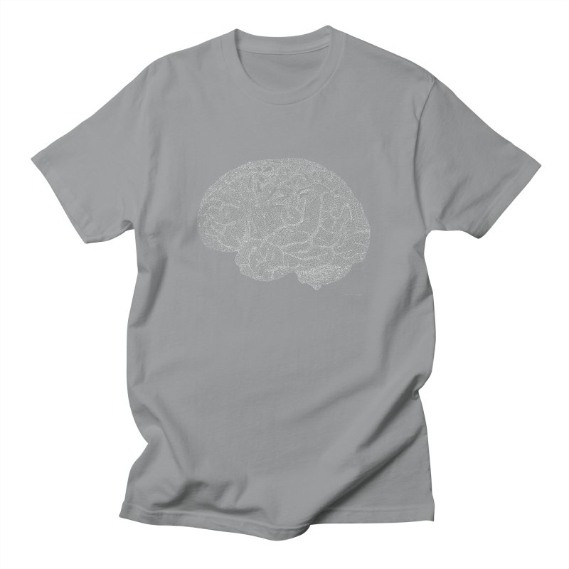 Brain WHITE Men's Regular T-Shirt by Daniel Dugan's Artist Shop