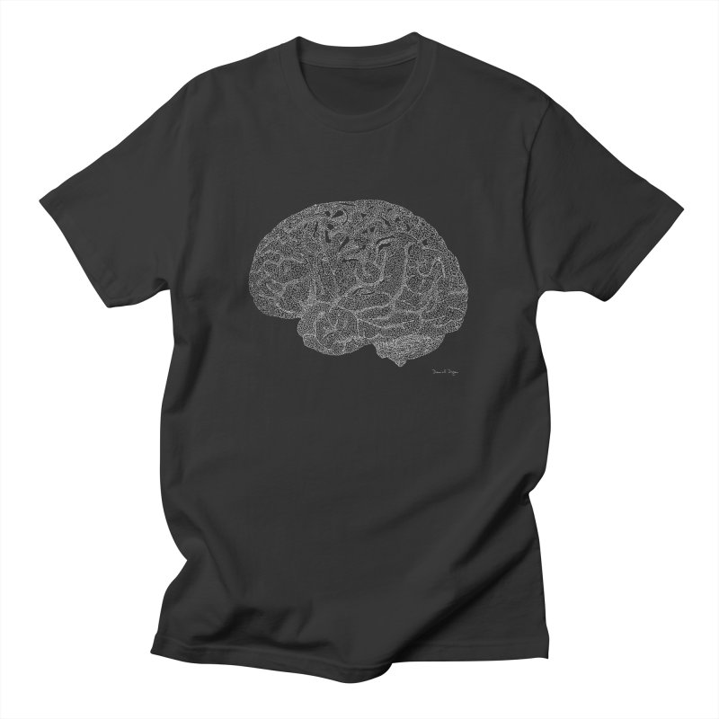 Brain WHITE Women's Unisex T-Shirt by Daniel Dugan's Artist Shop