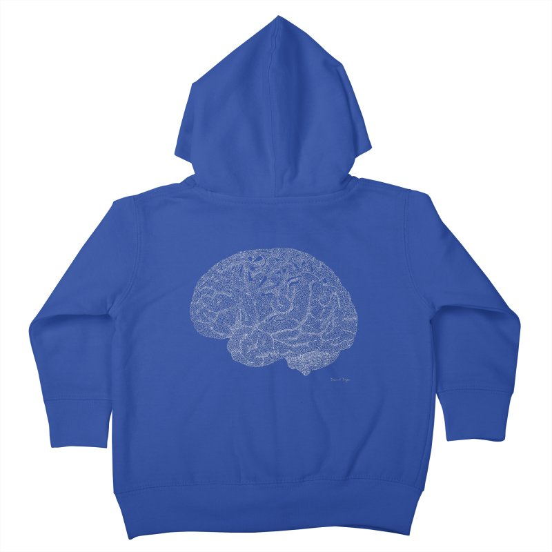 Brain WHITE Kids Toddler Zip-Up Hoody by Daniel Dugan's Artist Shop