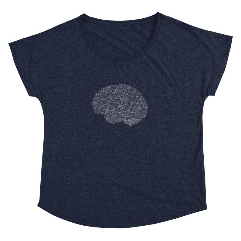 Brain WHITE Women's Dolman by Daniel Dugan's Artist Shop