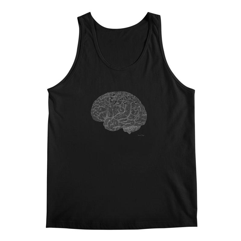 Brain WHITE Men's Tank by Daniel Dugan's Artist Shop