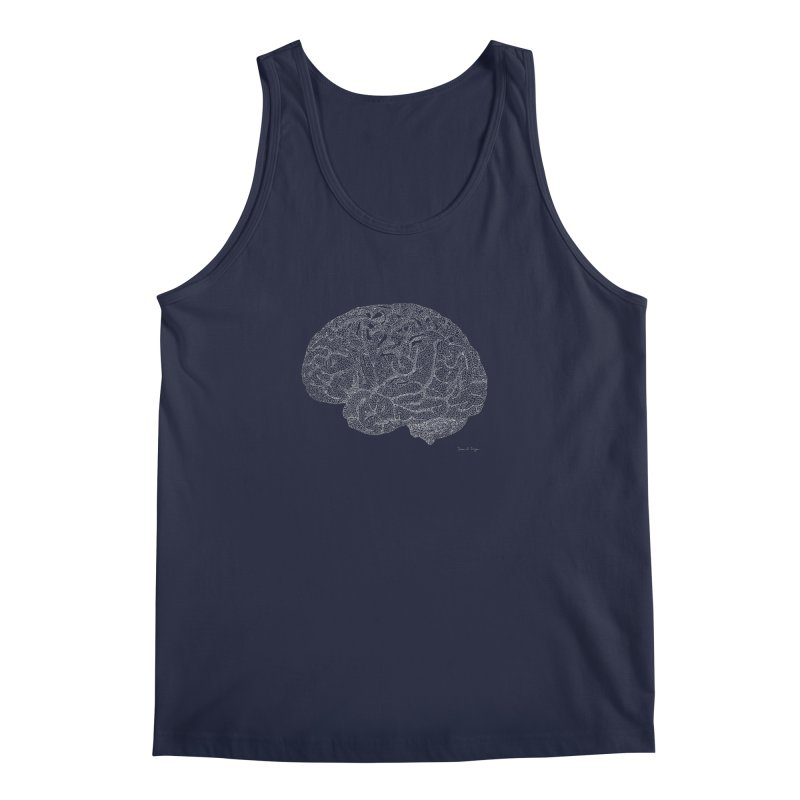 Brain WHITE Men's Tank by Daniel Dugan's Artist Shop
