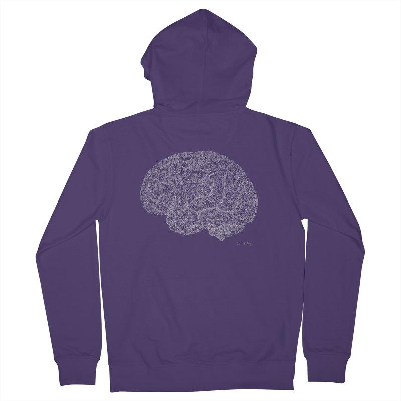 Brain (For Dark Backgrounds) Women's Zip-Up Hoody by Daniel Dugan's Artist Shop