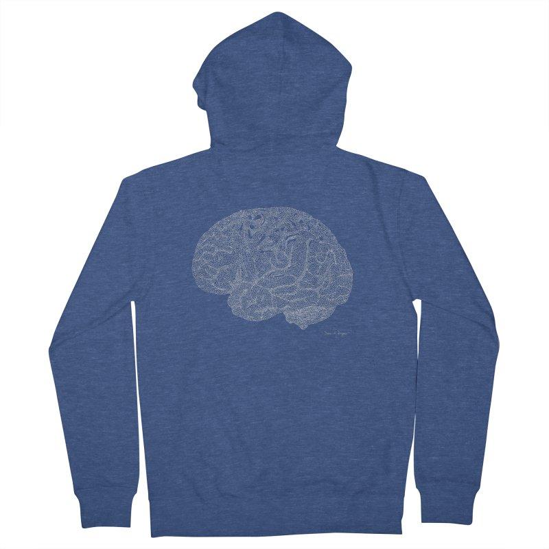 Brain (For Dark Backgrounds) Men's Zip-Up Hoody by Daniel Dugan's Artist Shop