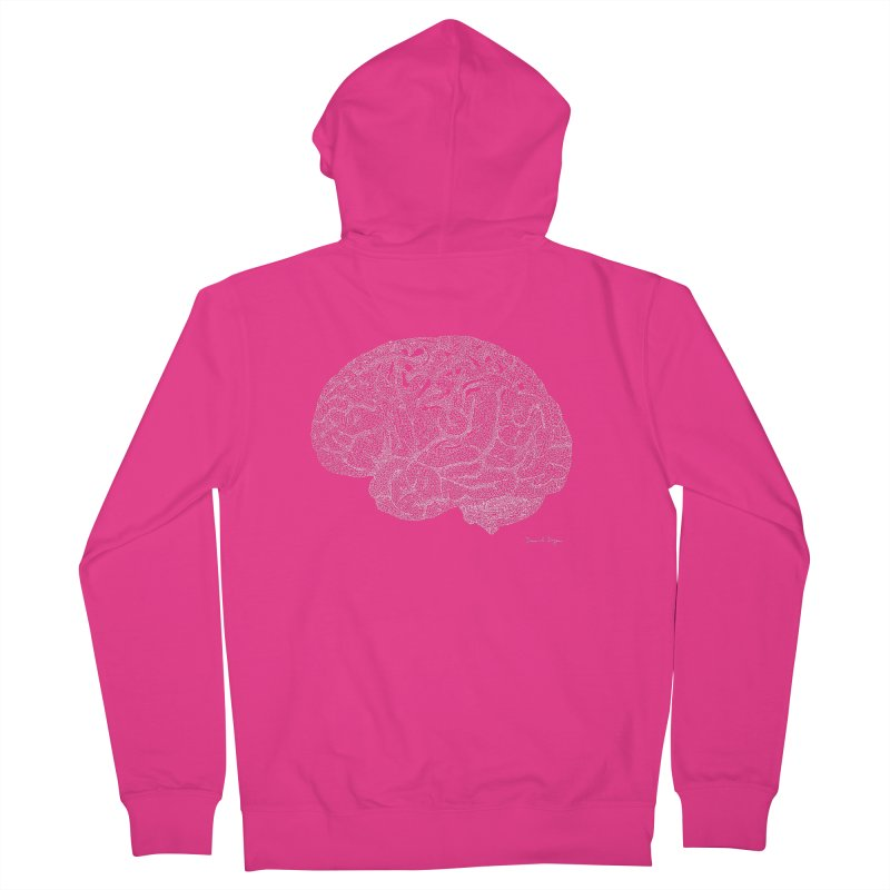 Brain (For Dark Backgrounds) Men's Zip-Up Hoody by Daniel Dugan's Artist Shop