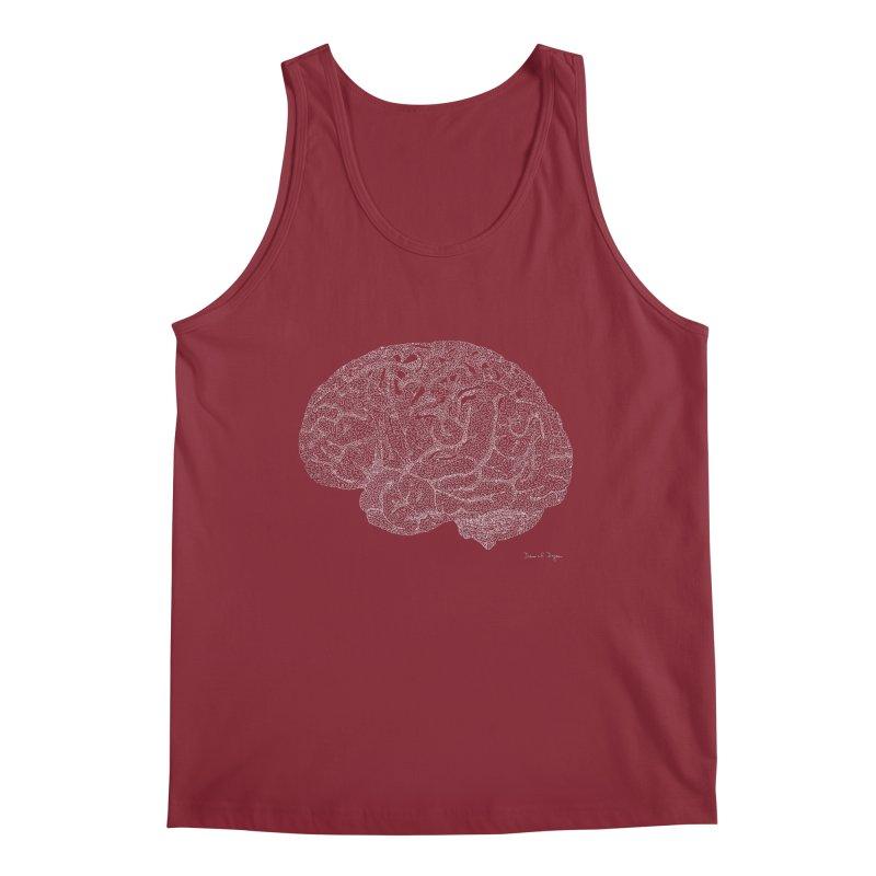 Brain (For Dark Backgrounds) Men's Tank by Daniel Dugan's Artist Shop