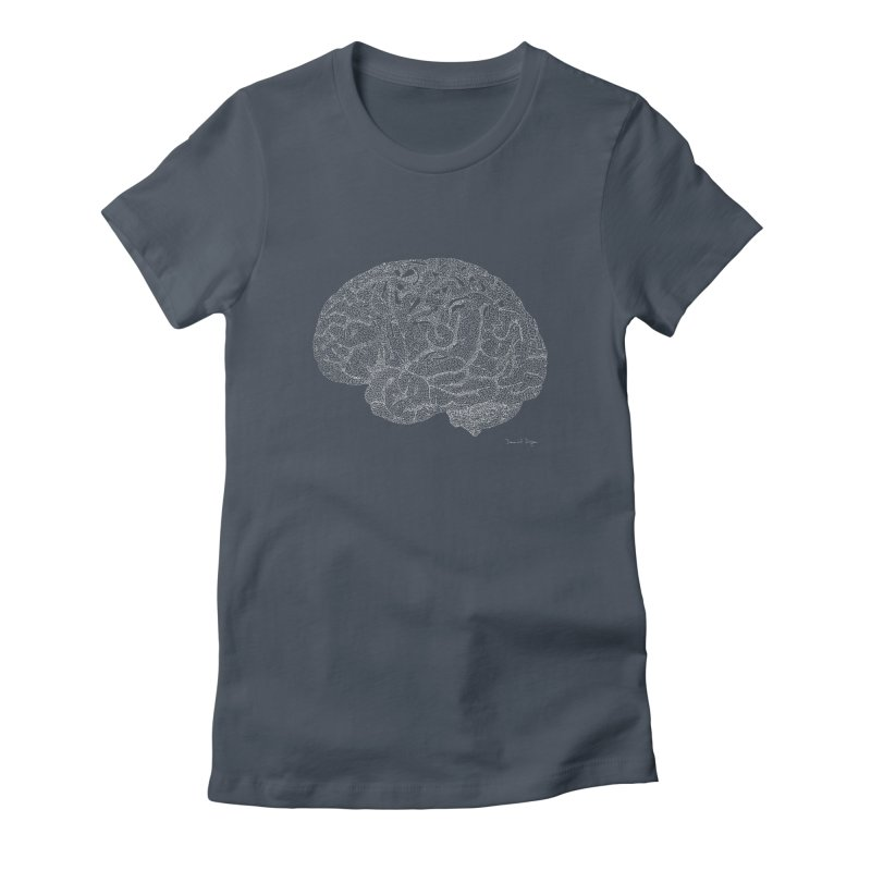 Brain (For Dark Backgrounds) Women's T-Shirt by Daniel Dugan's Artist Shop