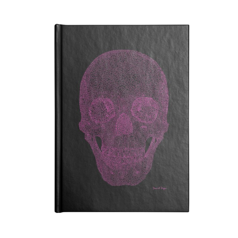 Skull PINK - One Continuous Line Accessories Notebook by Daniel Dugan's Artist Shop