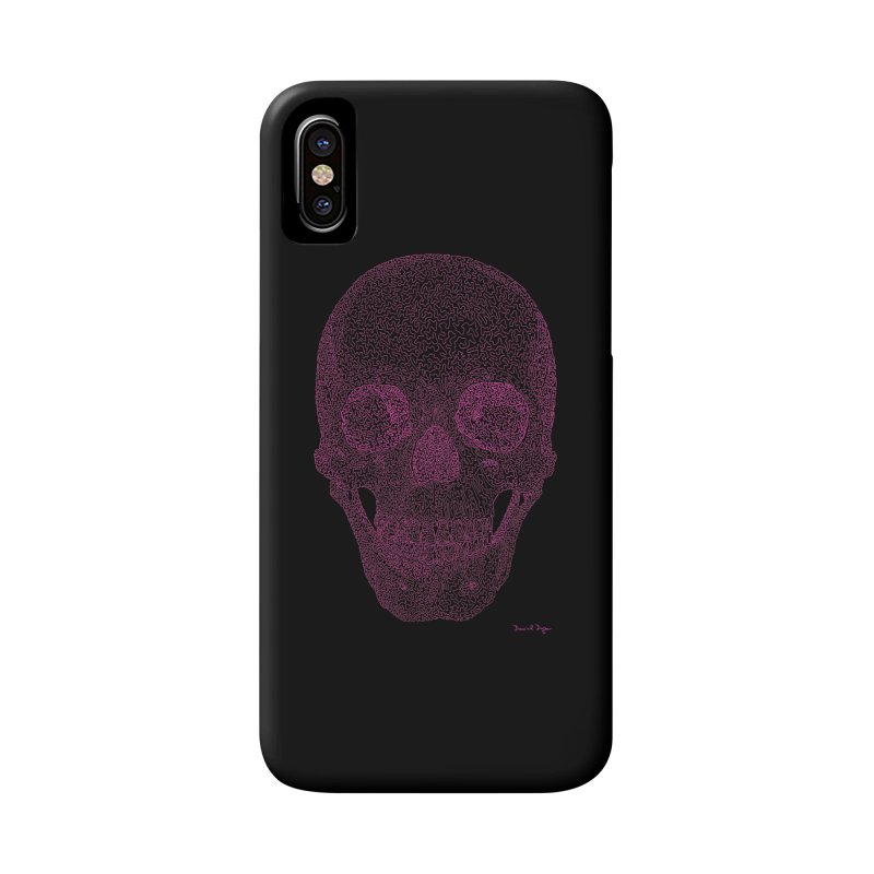 Skull PINK - One Continuous Line Accessories Phone Case by Daniel Dugan's Artist Shop