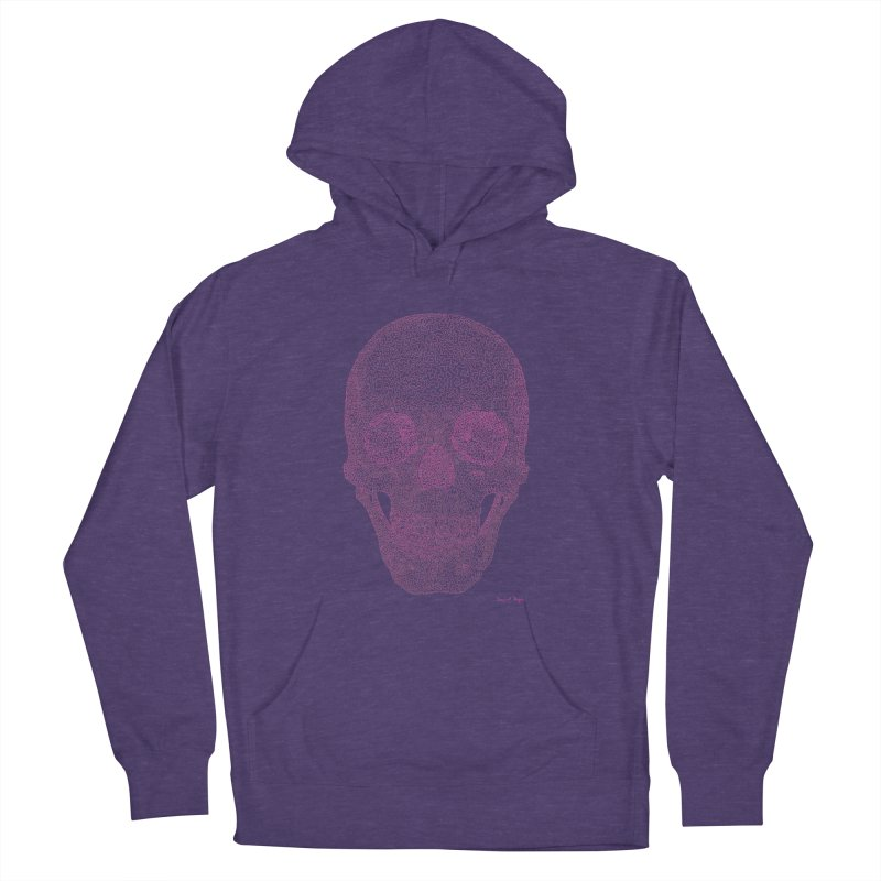 Skull PINK - One Continuous Line Women's French Terry Pullover Hoody by Daniel Dugan's Artist Shop