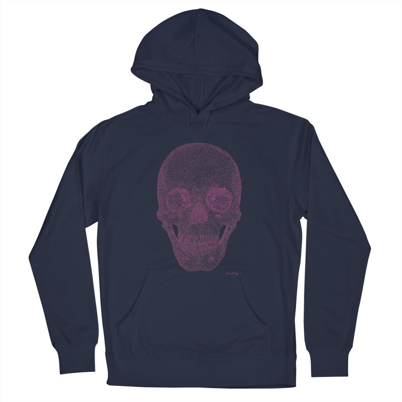 Skull PINK - One Continuous Line Women's Pullover Hoody by Daniel Dugan's Artist Shop