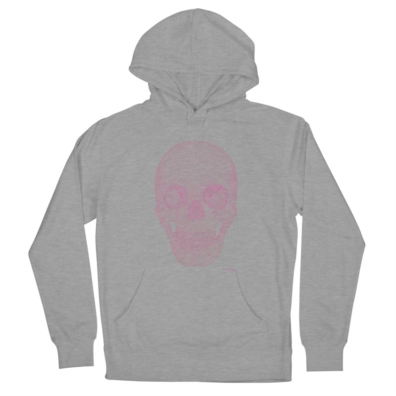 Skull PINK - One Continuous Line Men's Pullover Hoody by Daniel Dugan's Artist Shop