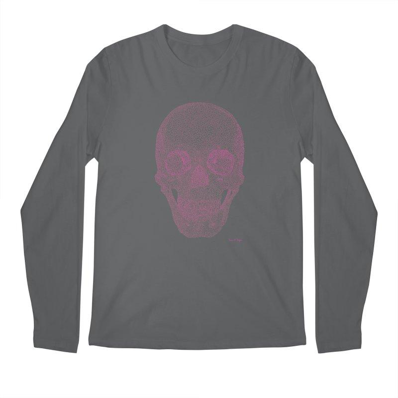 Skull PINK - One Continuous Line Men's Regular Longsleeve T-Shirt by Daniel Dugan's Artist Shop