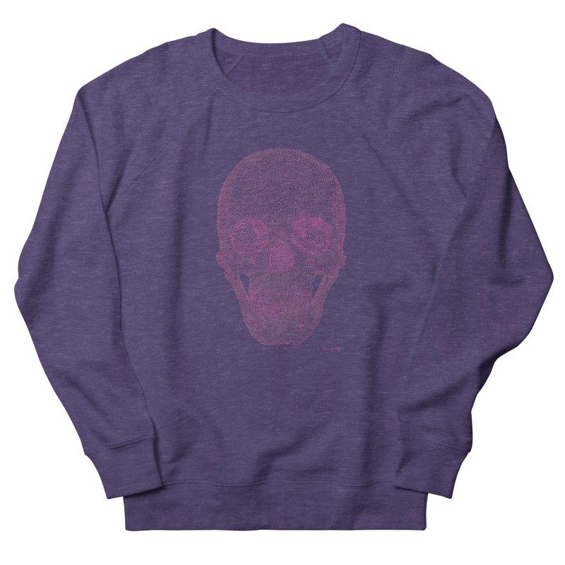 Skull PINK - One Continuous Line Women's Sweatshirt by Daniel Dugan's Artist Shop
