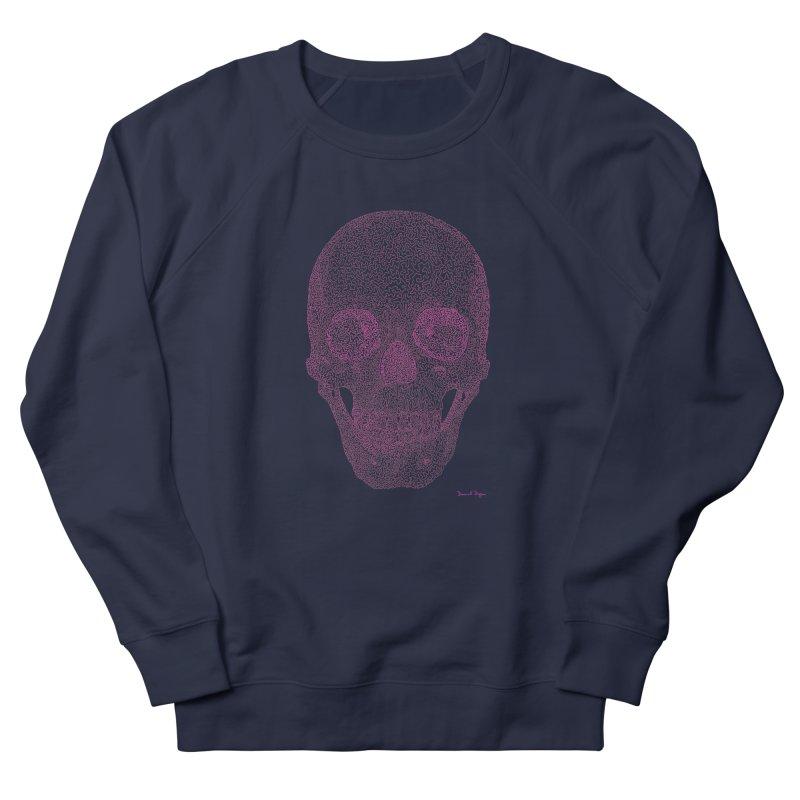 Skull PINK - One Continuous Line Men's Sweatshirt by Daniel Dugan's Artist Shop