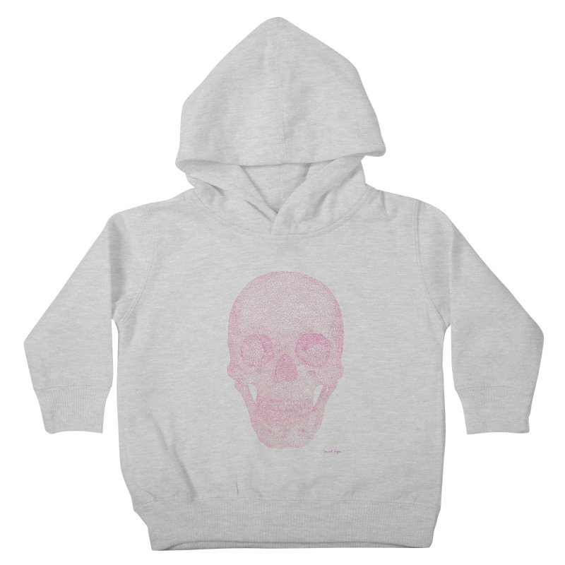 Skull PINK - One Continuous Line Kids Toddler Pullover Hoody by Daniel Dugan's Artist Shop
