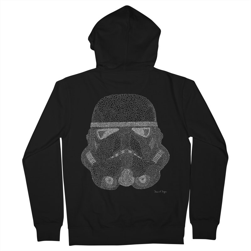 Trooper WHITE - One Continuous Line Women's Zip-Up Hoody by Daniel Dugan's Artist Shop