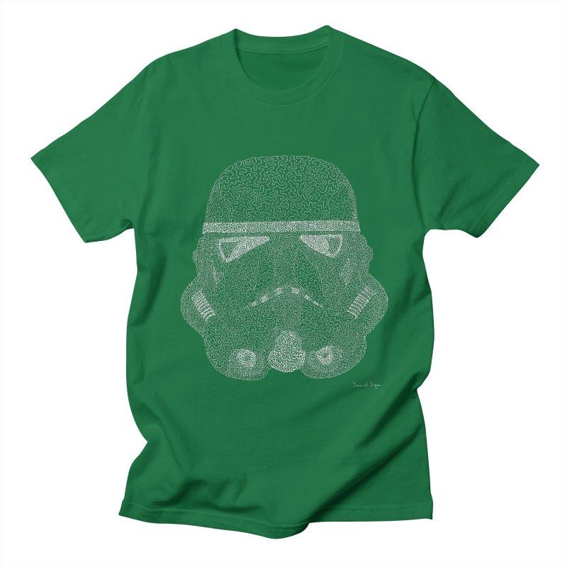 Trooper WHITE - One Continuous Line Men's T-Shirt by Daniel Dugan's Artist Shop