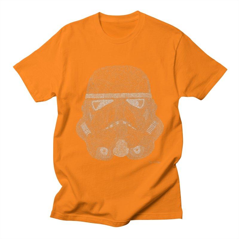 Trooper WHITE - One Continuous Line Women's Unisex T-Shirt by Daniel Dugan's Artist Shop
