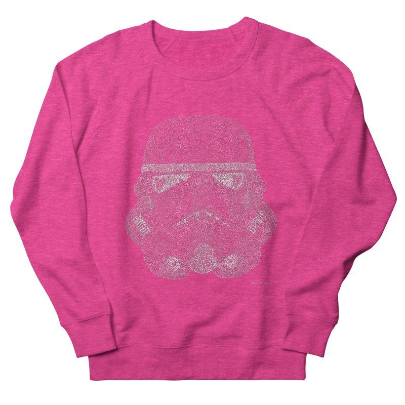 Trooper WHITE - One Continuous Line Men's Sweatshirt by Daniel Dugan's Artist Shop