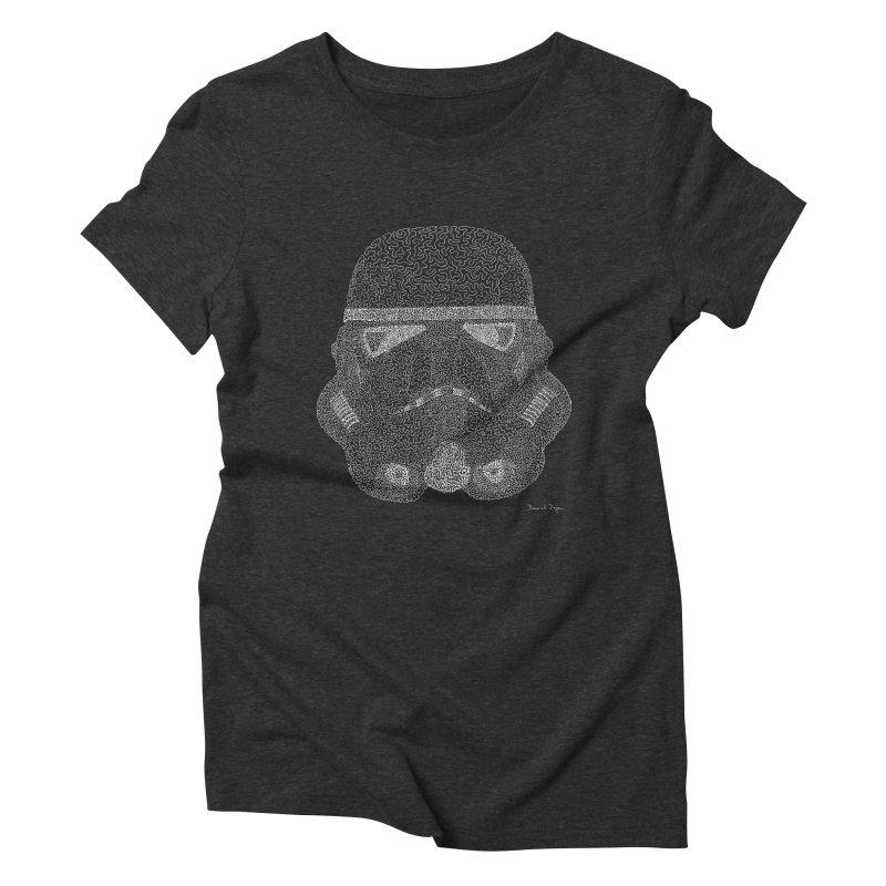 Trooper WHITE - One Continuous Line Women's Triblend T-Shirt by Daniel Dugan's Artist Shop