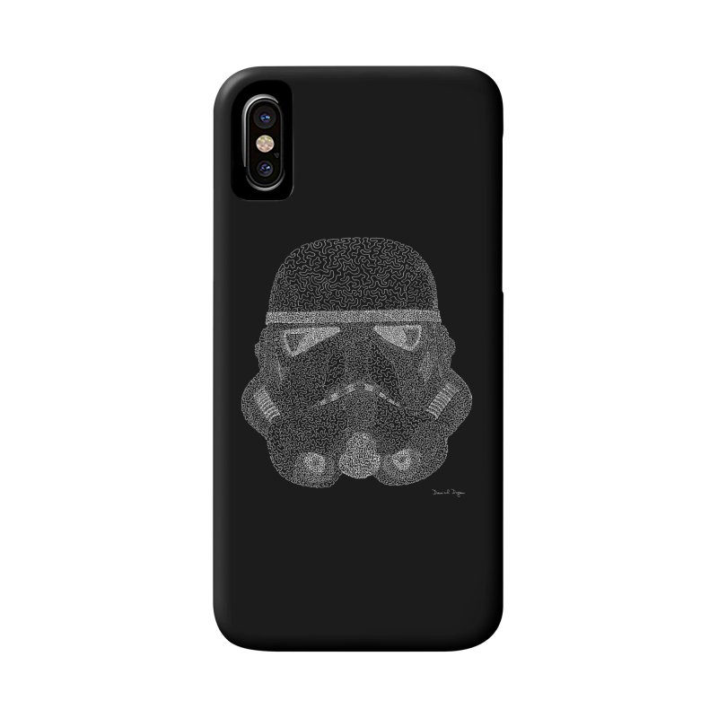 Trooper WHITE - One Continuous Line Accessories Phone Case by Daniel Dugan's Artist Shop
