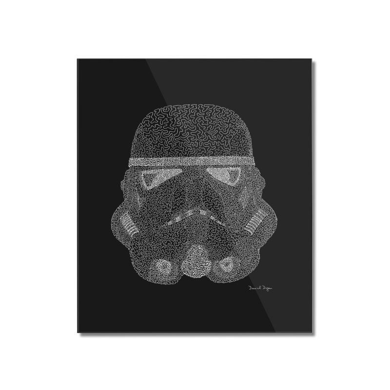Trooper WHITE - One Continuous Line Home Mounted Acrylic Print by Daniel Dugan's Artist Shop