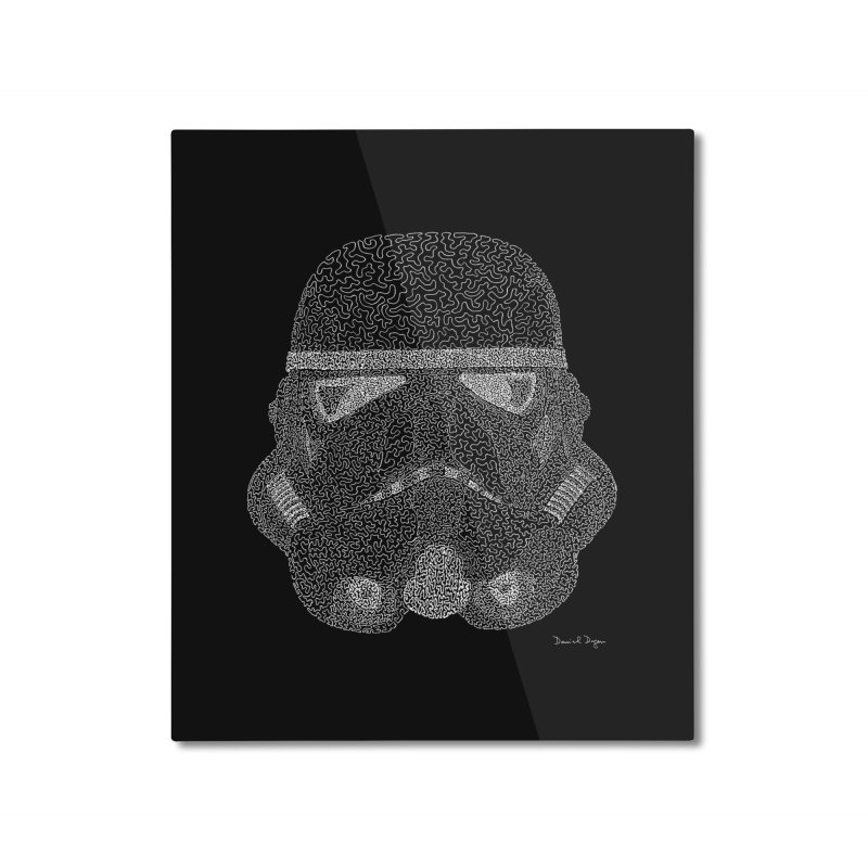 Trooper WHITE - One Continuous Line Home Mounted Aluminum Print by Daniel Dugan's Artist Shop