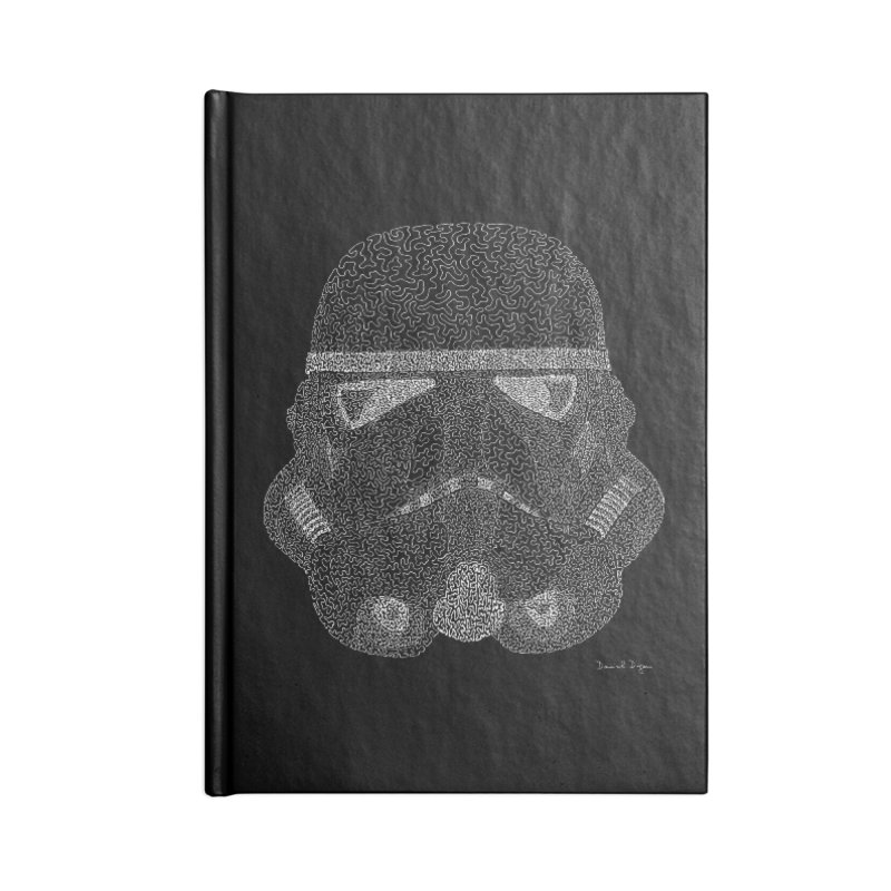 Trooper WHITE - One Continuous Line Accessories Lined Journal Notebook by Daniel Dugan's Artist Shop