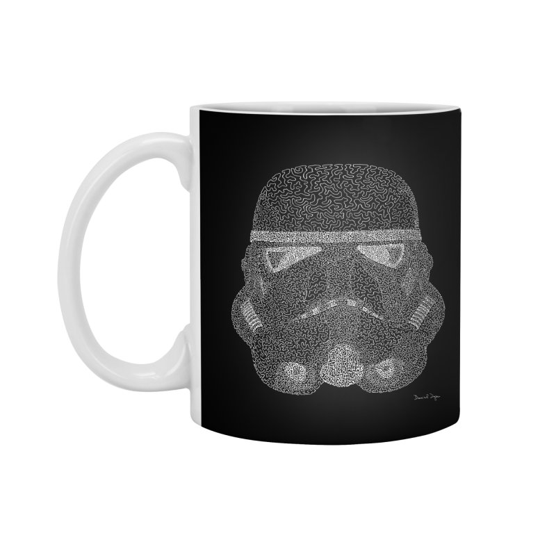 Trooper WHITE - One Continuous Line Accessories Mug by Daniel Dugan's Artist Shop