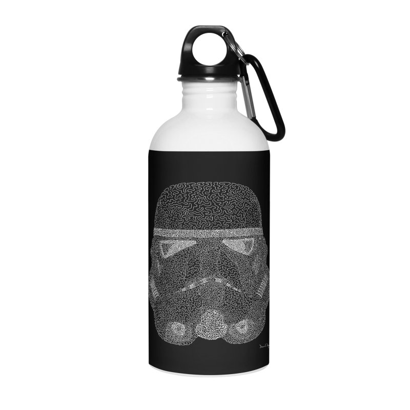 Trooper WHITE - One Continuous Line Accessories Water Bottle by Daniel Dugan's Artist Shop
