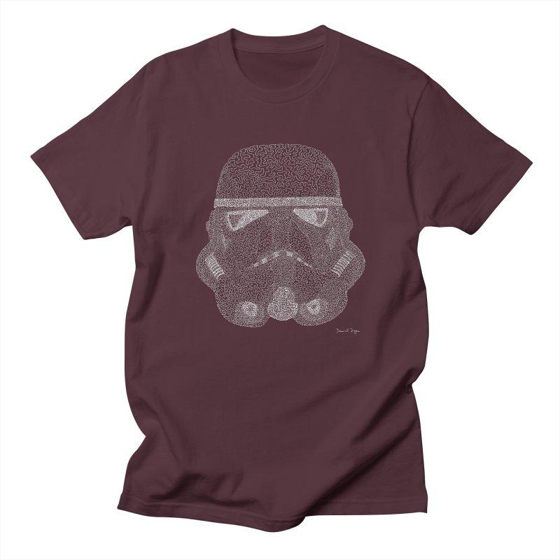 Trooper WHITE - One Continuous Line Men's Regular T-Shirt by Daniel Dugan's Artist Shop