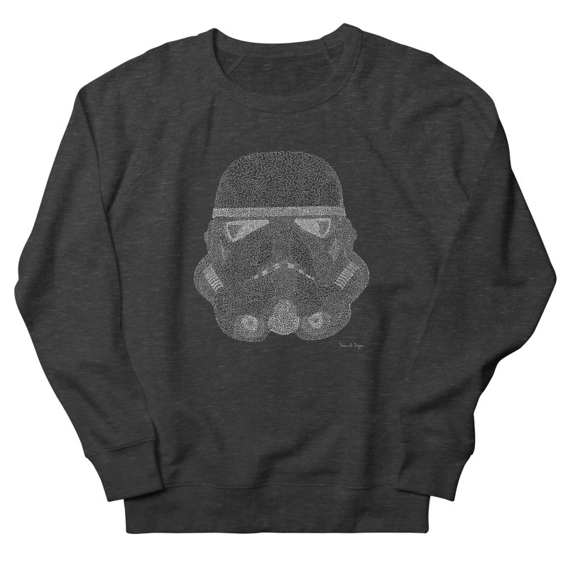 Trooper WHITE - One Continuous Line Women's French Terry Sweatshirt by Daniel Dugan's Artist Shop