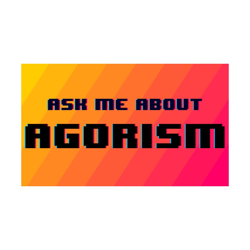 Ask Me About Agorism Men's T-Shirt by Enemy of the State's Dank Pod-Shop