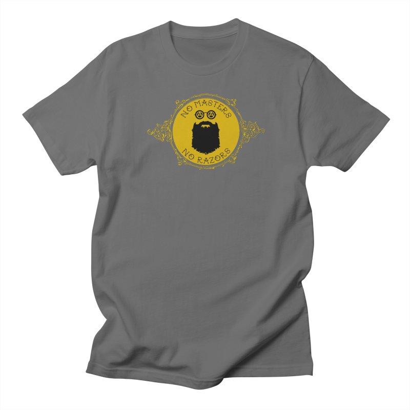 No Razors Round Dark Men's T-Shirt by Enemy of the State's Dank Pod-Shop