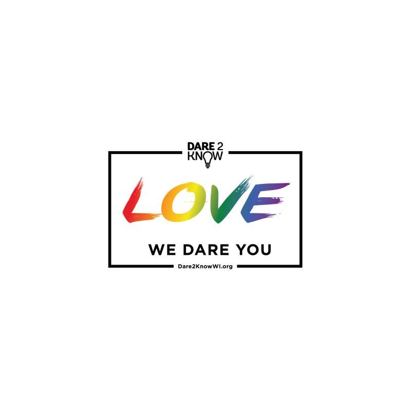Dare2Know Quote Line - Love - Pride 2021 (White) Accessories Notebook by Dare2Know Store