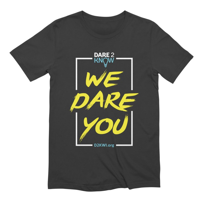 Dare2Know Vertical White Outline Men's Extra Soft T-Shirt by Dare2Know Store
