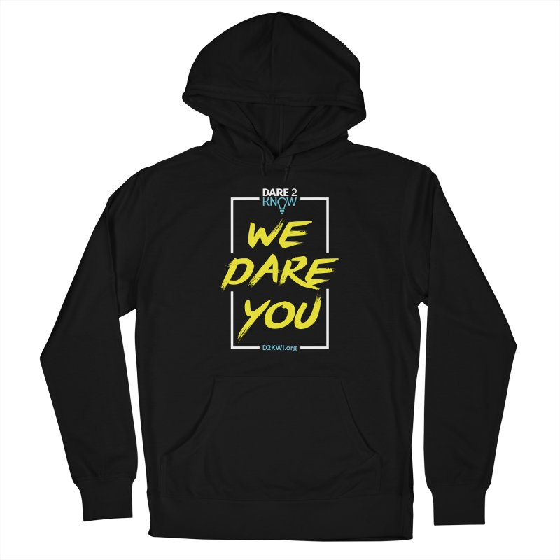 Dare2Know Vertical White Outline Women's French Terry Pullover Hoody by Dare2Know Store