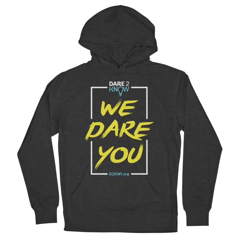 Dare2Know Vertical White Outline Men's French Terry Pullover Hoody by Dare2Know Store