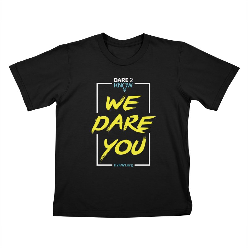 Dare2Know Vertical White Outline Kids T-Shirt by Dare2Know Store