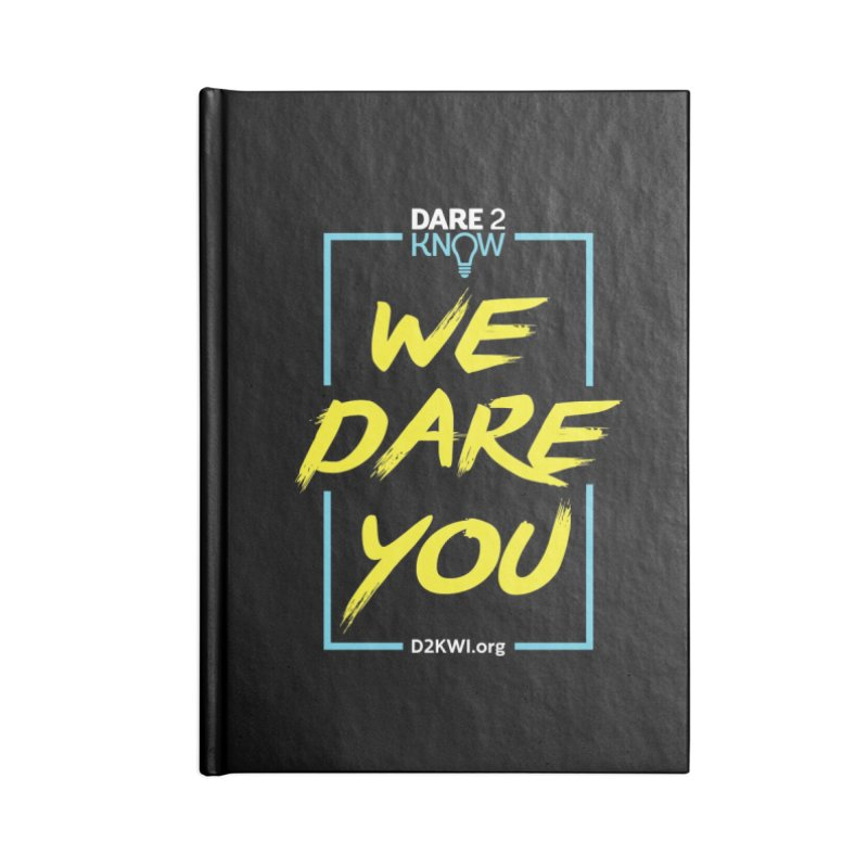 Dare2Know Vertical Blue Outline Accessories Lined Journal Notebook by Dare2Know Store