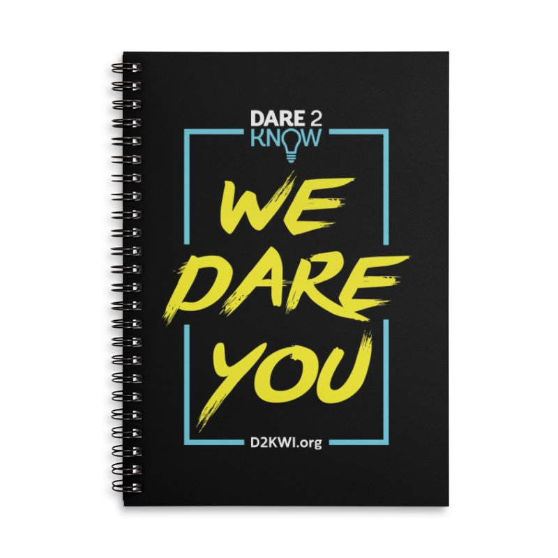 Dare2Know Vertical Blue Outline Accessories Lined Spiral Notebook by Dare2Know Store
