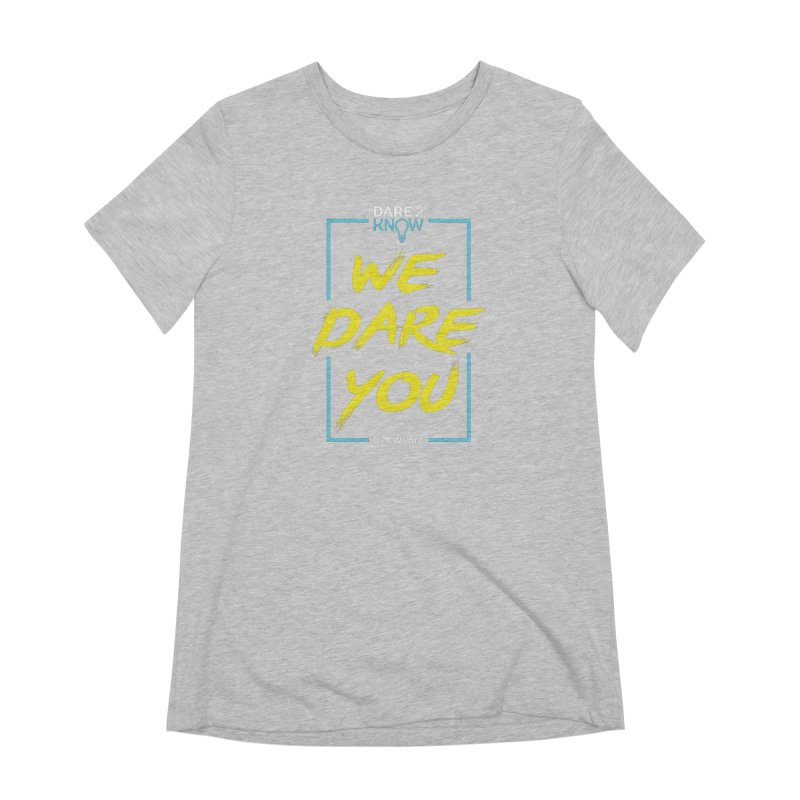Dare2Know Vertical Blue Outline Women's Extra Soft T-Shirt by Dare2Know's Artist Shop